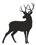 Deer Silhouette v7 Decal Sticker