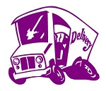 Delivery Truck Cartoon Decal Sticker