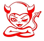 Devil Girl v4 Decal Sticker