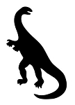 Dinosaur Silhouette v11 Decal Sticker