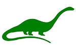Dinosaur Silhouette v12 Decal Sticker