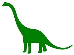 Dinosaur Silhouette v1 Decal Sticker
