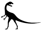 Dinosaur Silhouette v3 Decal Sticker