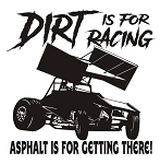 Dirt is for Racing - Sprint Car v2 Decal Sticker