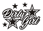 Dirty Girl v2 Decal Sticker