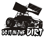 Do it in the Dirt - Sprint Car Decal Sticker