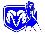 Dodge Girl v3 Decal Sticker