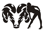 Dodge Girl v13 Decal Sticker
