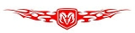 Dodge Ram Shield with Flames v3 Decal Sticker