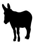 Donkey Silhouette v5 Decal Sticker