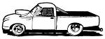 Dragster Truck Decal Sticker