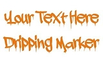 Dripping Marker Font Decal Sticker