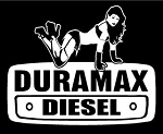 Duramax with Girl v1 Decal Sticker