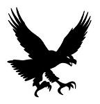 Eagle Silhouette v4 Decal Sticker