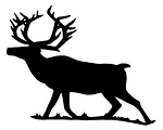 Elk Silhouette v2 Decal Sticker