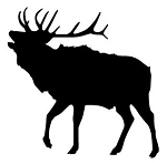 Elk Silhouette Decal Sticker