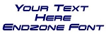 Endzone Font Decal Sticker
