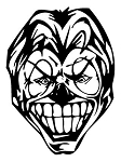 Evil Clown v10 Decal Sticker