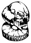Evil Clown v3 Decal Sticker