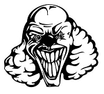 Evil Clown v4 Decal Sticker