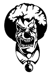 Evil Clown v8 Decal Sticker