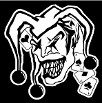Evil Jester v2 Decal Sticker