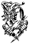 Evil Jester v4 Decal Sticker