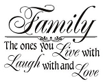 Family Live Laugh Love Decal