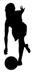 Female Bowler Silhouette Decal Sticker