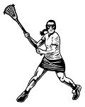 Female Lacrosse v3 Decal Sticker