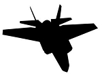 Fighter Jet Silhouette v11 Decal Sticker
