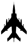 Fighter Jet Silhouette v4 Decal Sticker
