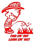 Find Em Hot Pee On Decal Sticker