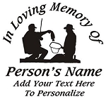 Fisherman Memorial v2 Decal Sticker
