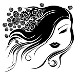 Flowers In Hair Girl Decal Sticker