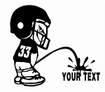Football Player Pee On Decal Sticker