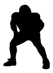 Football Player Silhouette v1 Decal Sticker