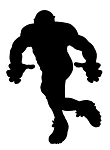 Football Player Silhouette v2 Decal Sticker