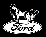 Ford Girl Decal Sticker