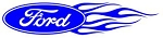 Ford Oval Flames Right Decal Sticker