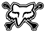 Fox Head Logo with Crossbones Decal Sticker