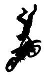 Freestyle Motocross Silhouette v4 Decal Sticker