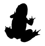 Frog Silhouette v2 Decal Sticker