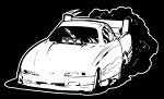 Funny Car Burnout Decal Sticker