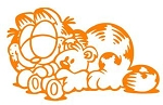 Garfield v8 Decal Sticker