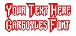 Gargoyles Font Decal Sticker