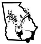 Georgia Deer Hunting v2 Decal Sticker