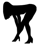 Girl Bent Over v3 Decal Sticker