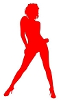 Girl Posing Silhouette v13 Decal Sticker