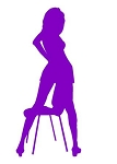 Sexy Girl on Chair v3 Decal Sticker